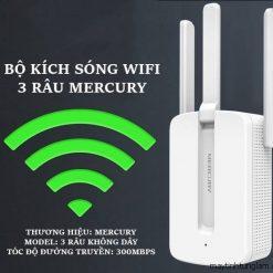 Bộ kích sóng Mercury MW310RE 3 râu anten cực mạnh