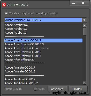 AMTEmu - Active các phần mềm của Adobe