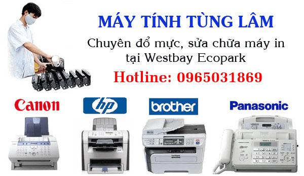Đổ mực máy in tại Westbay Ecopark