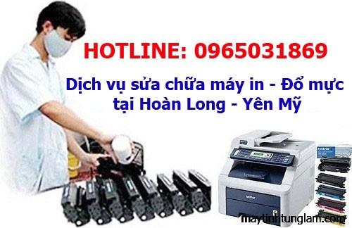 Đổ mực máy in, sửa máy in tại Hoàn Long