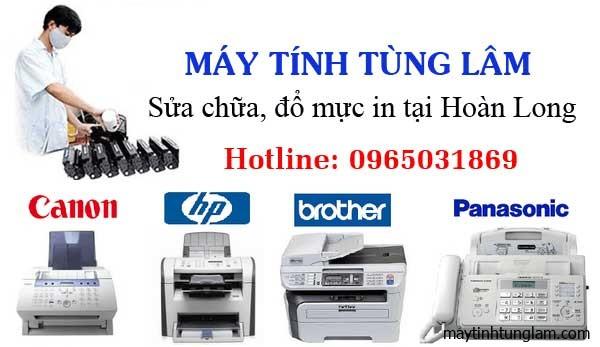 Đổ mực máy in tại Hoàn Long, Yên Mỹ