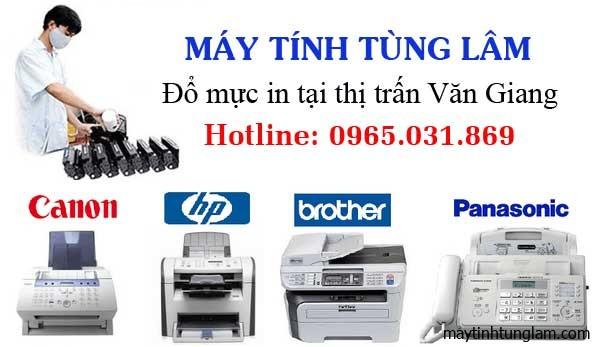 Đổ mực máy in tại thị trấn Văn Giang