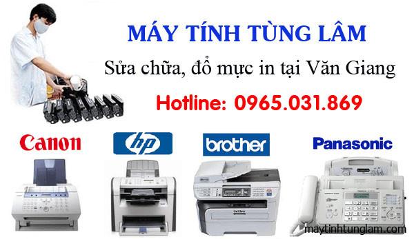 Đổ mực máy in tại nhà Văn Giang Hưng Yên